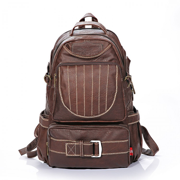 PVC Vintage Waterproof Backpack B-44