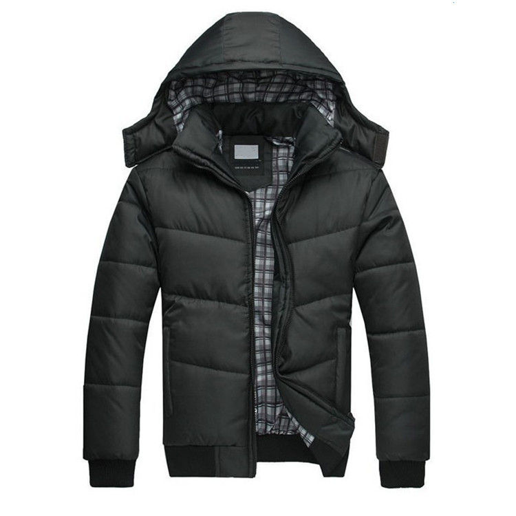 Hooded cotton-padded jacket