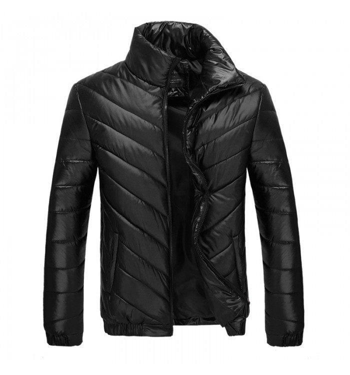 Zipper cotton-padded jacket