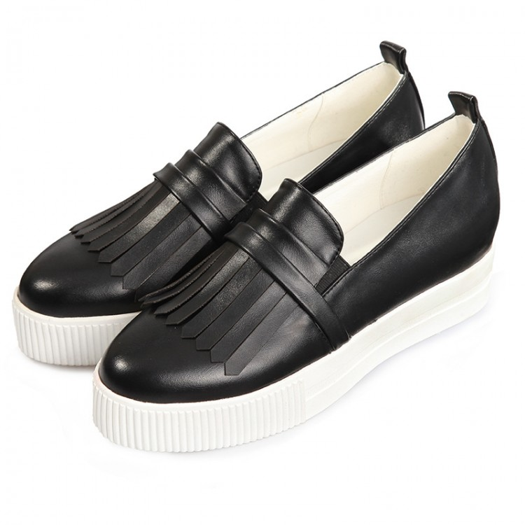 Genuine leather slip-on