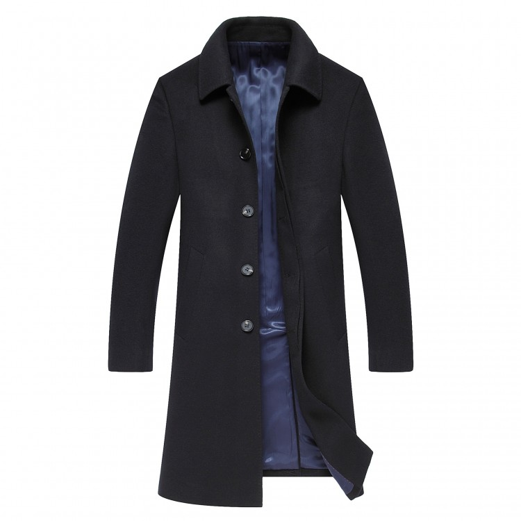 Woolen Tweed Overcoat