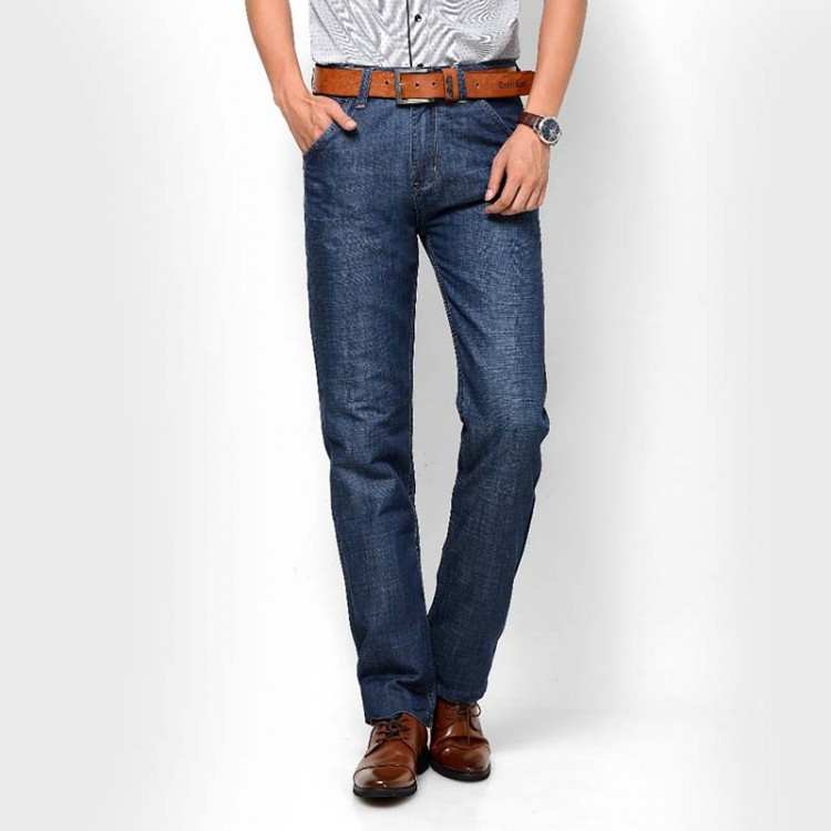 Medium Rise Straight Slim Jeans