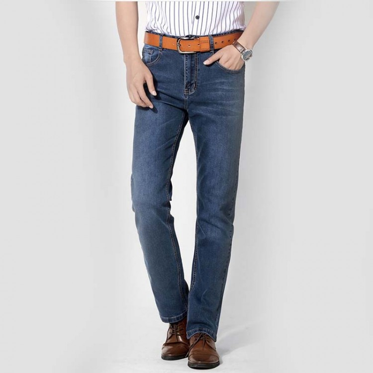 Slim-fit straight jeans
