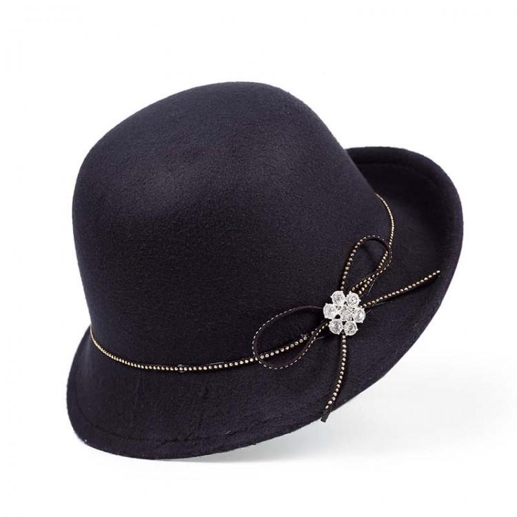 Woven felt Bowler hat
