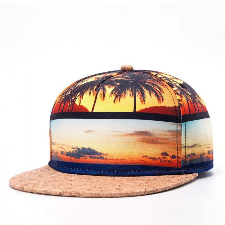 Baseball Cap 3D Thermal Transfer Beach
