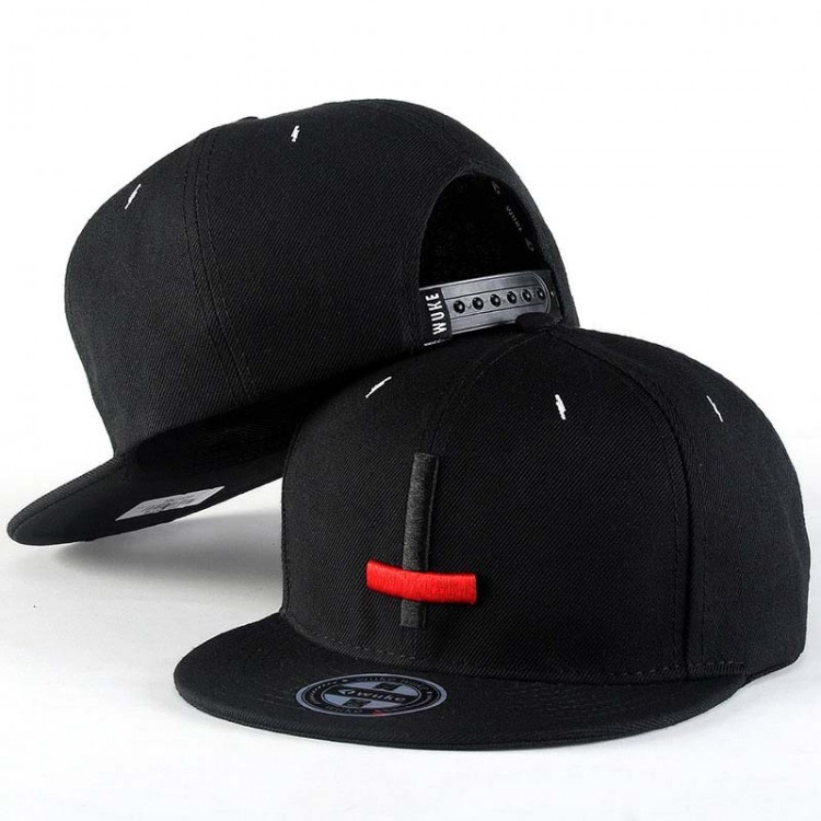 Hip Hop Hat With A Straight Visor Baseball Cap Cross