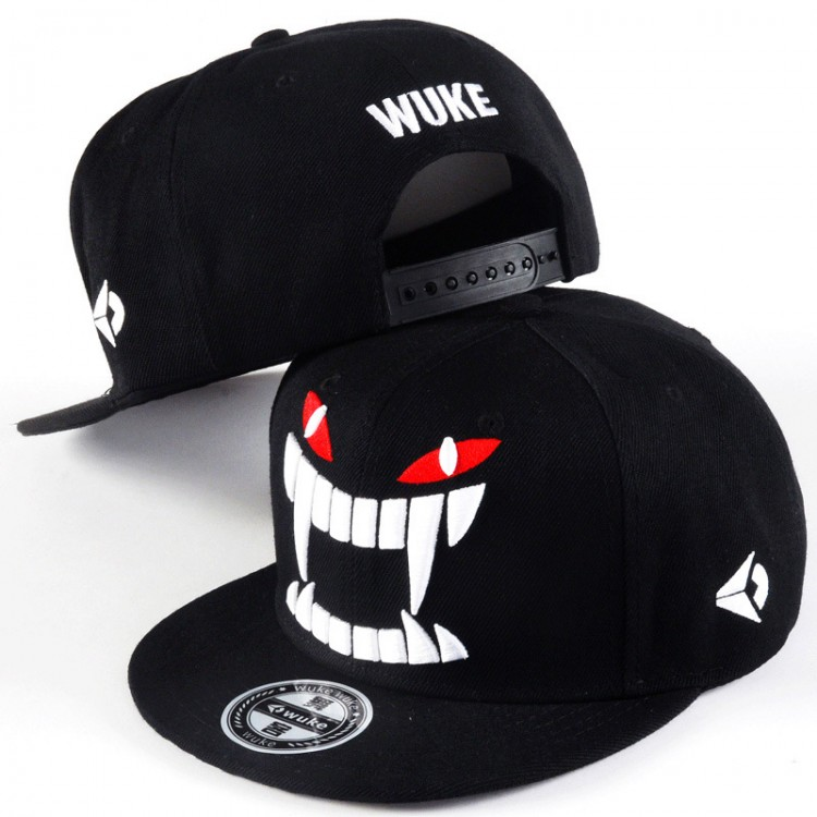 Hip Hop Hat With A Straight Visor Baseball Cap Big Teeth