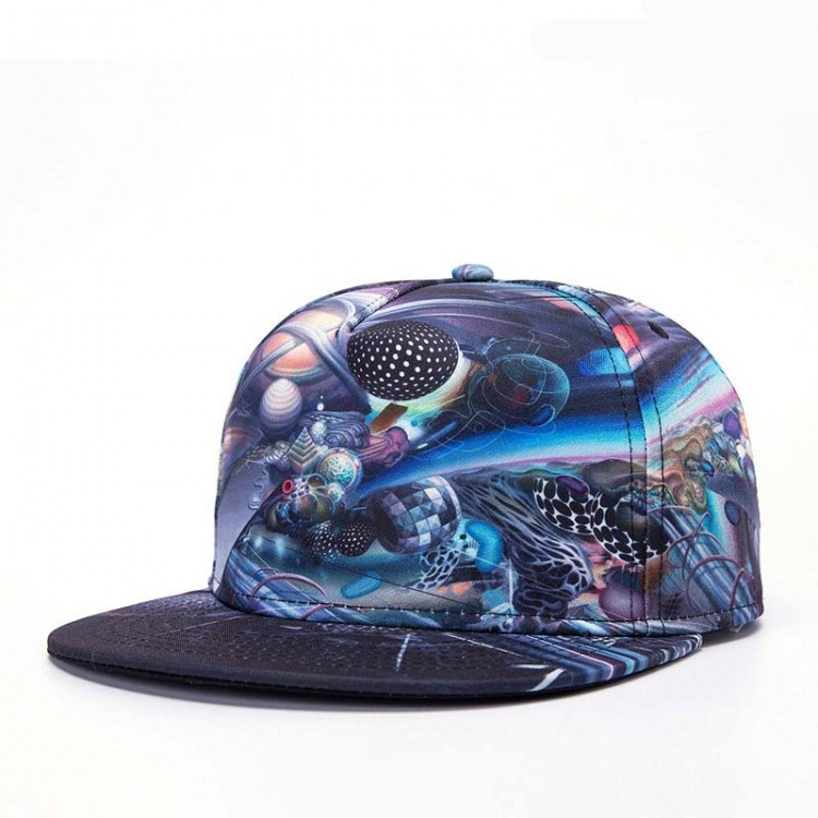 Hip Hop Hat With A Straight Visor Baseball Cap Universe