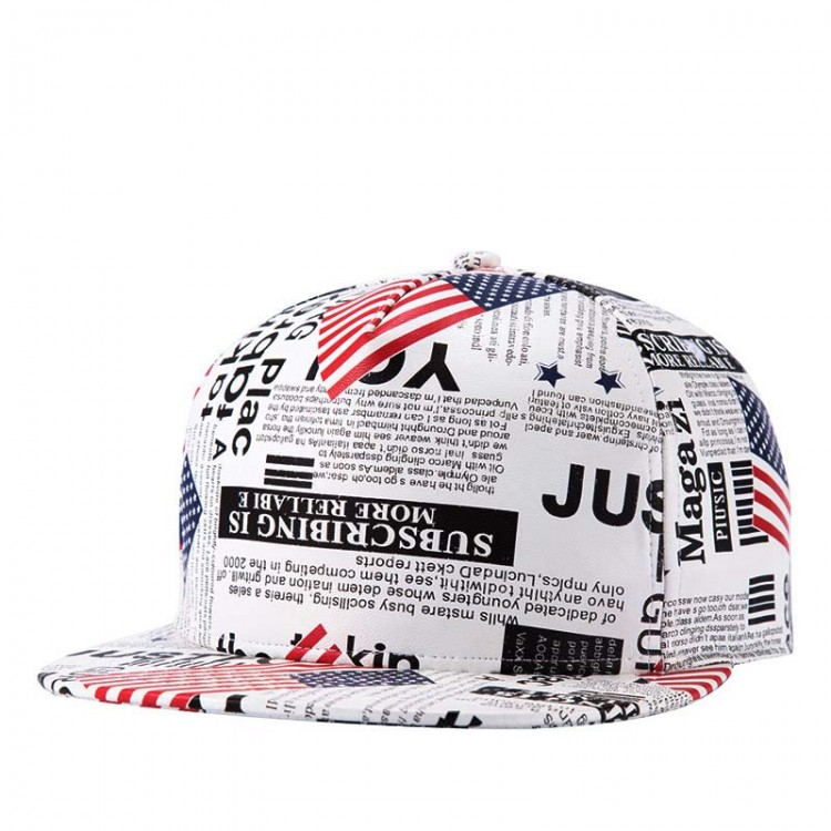 Hip Hop Hat With A Straight Visor Baseball Cap Newspaper