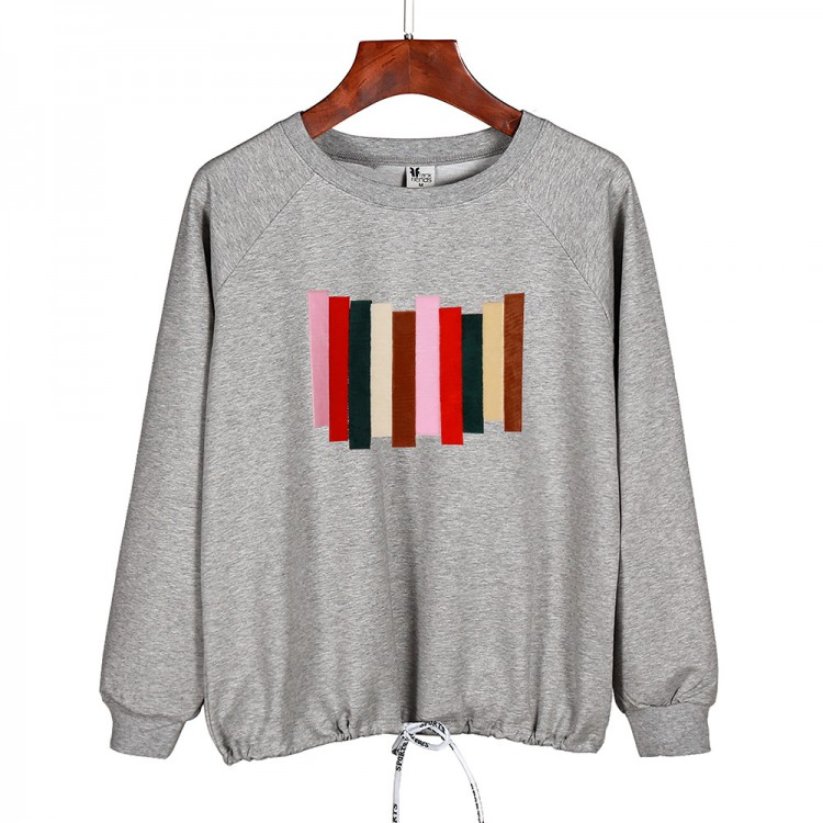 Colorful striped sweatershirt