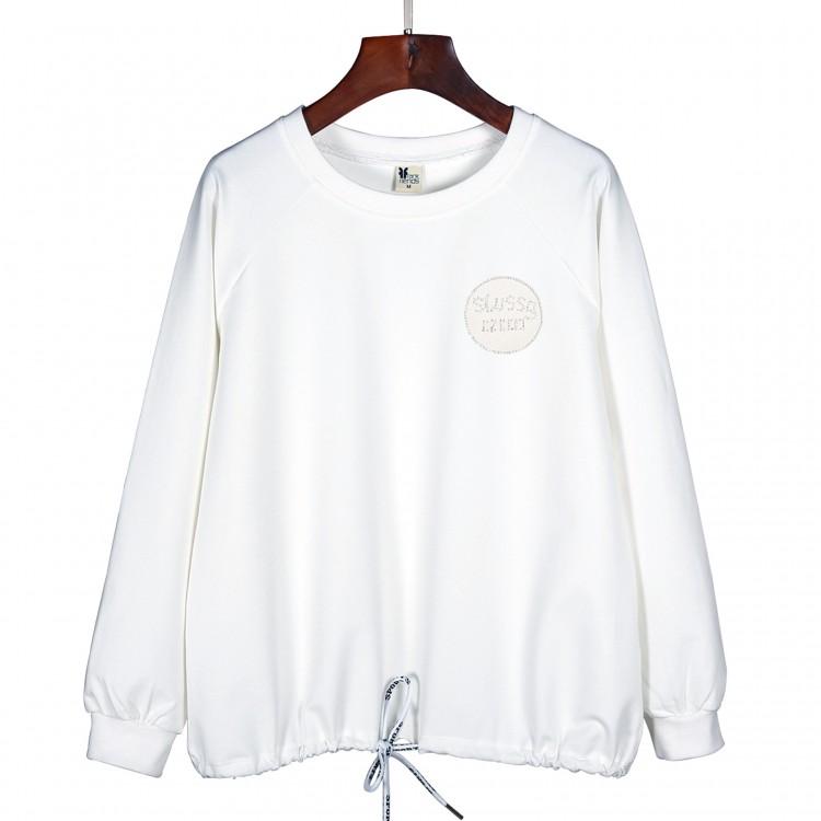 Letters rhinestones sweatershirt