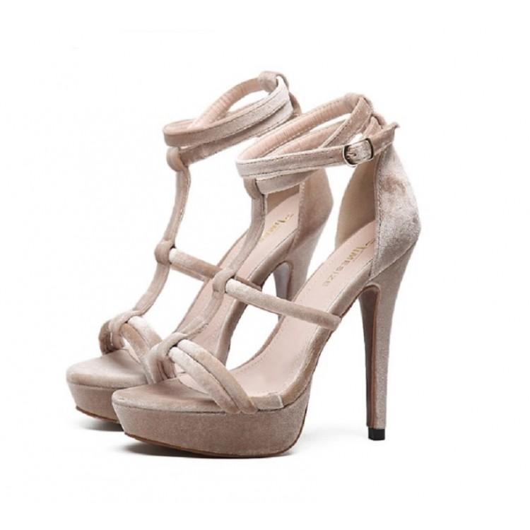 T-type stap rivets stiletto sandals