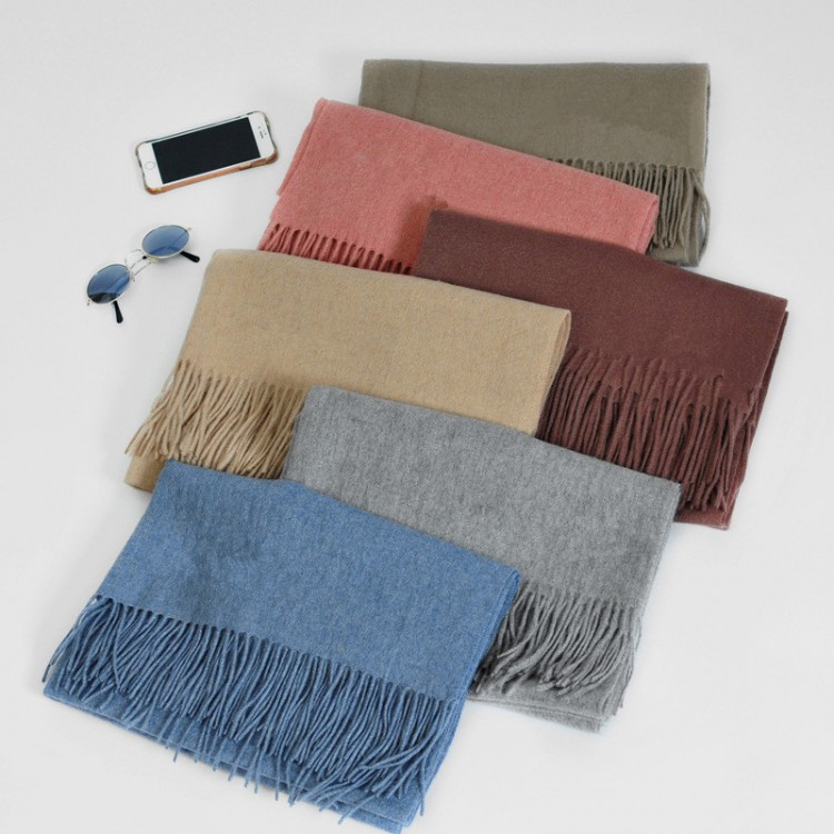 Solid scarve shawl 75% cashmere 200cm