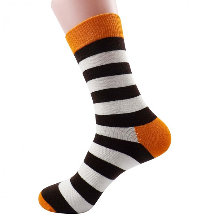 Autumn Winter Unisex Striped Cotton Stockings