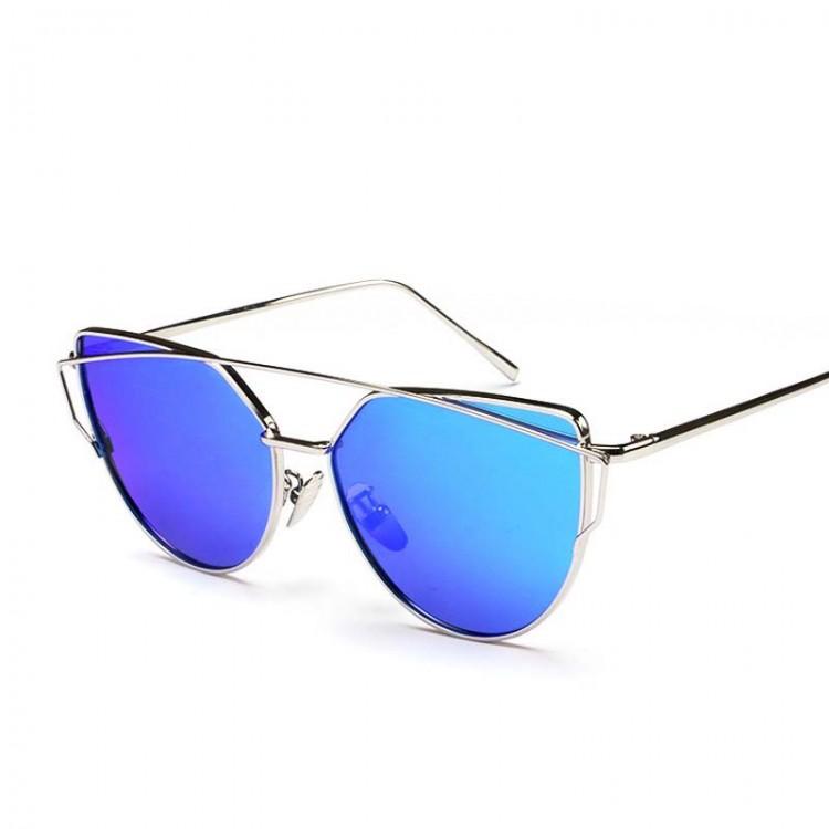 Browline round sunglasses