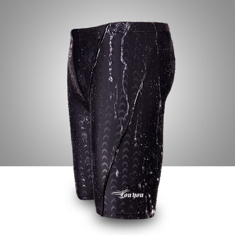 Shark skin pattern fifth male swimming trunks