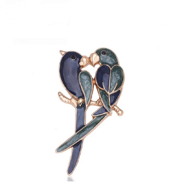 Parrot Alloy Brooch