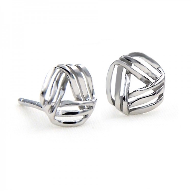 Three lines stud earrings