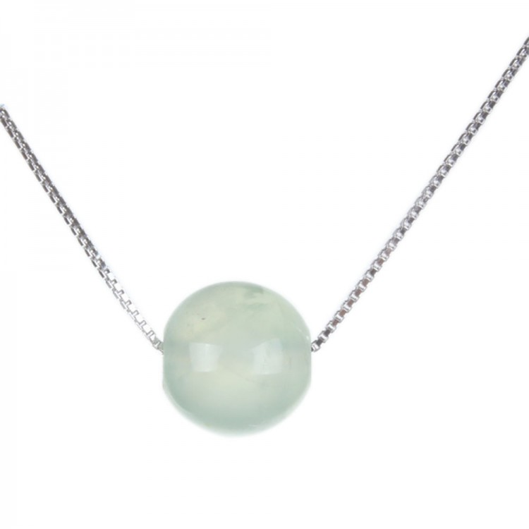 Natural Prehnite Pendant Necklace