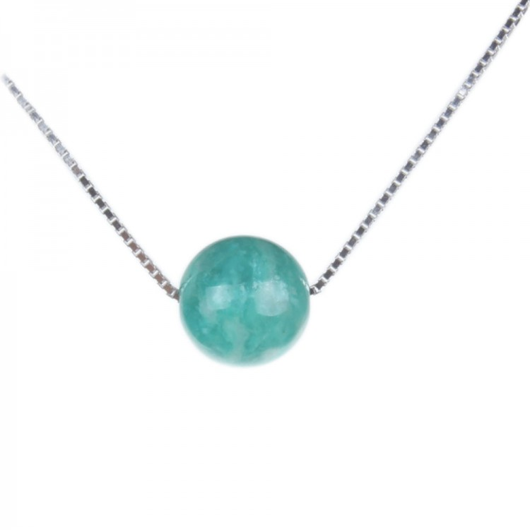 Lake Blue Amazonite Pendant Necklace