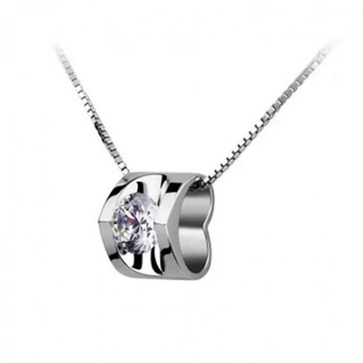 Heart-shaped pendant S925