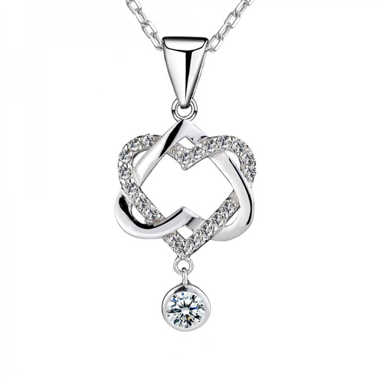 Double Knot Diamond Pendant S925
