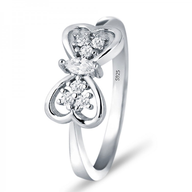 Butterfly Wedding Ring S925