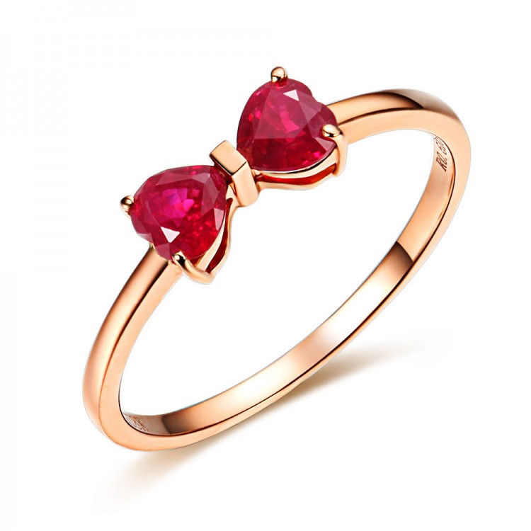 Bow Ruby Ring