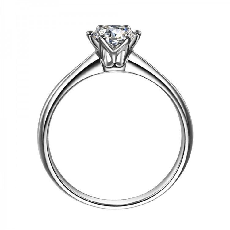 1 Carat Crown Six Claw Ring