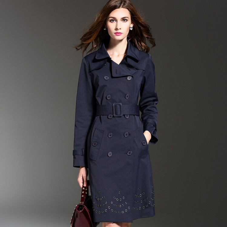 Women's Slim Long Trench Coat