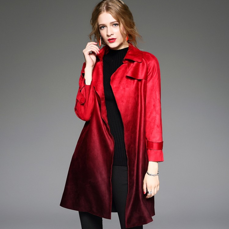 Women's Belted Trench