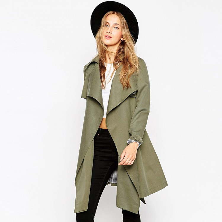 Women's Open-Front Trench Coat