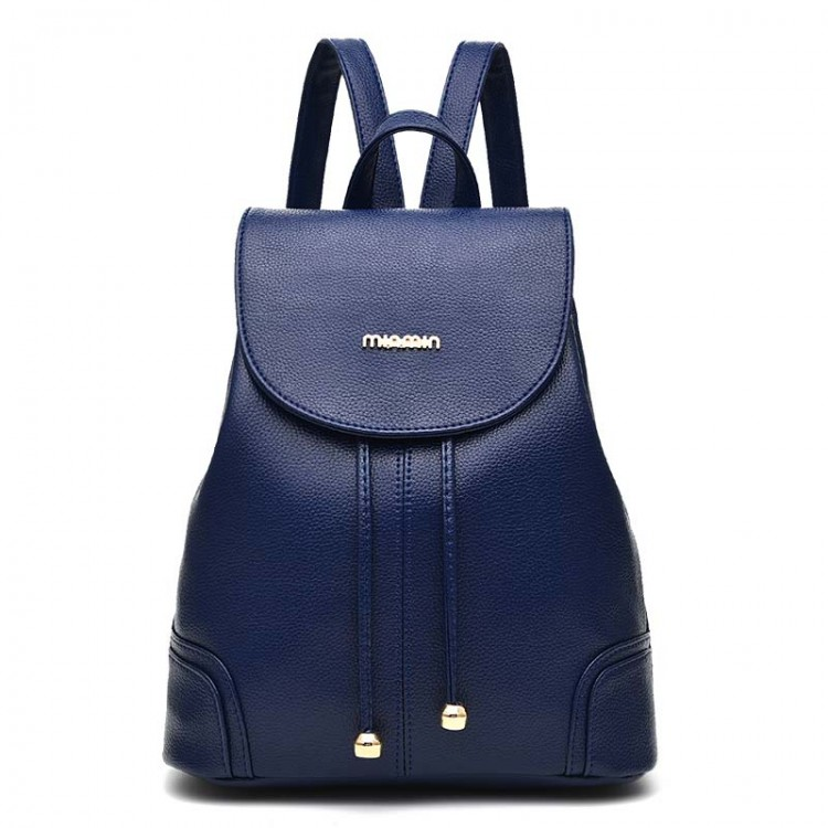 Faux leather backpack