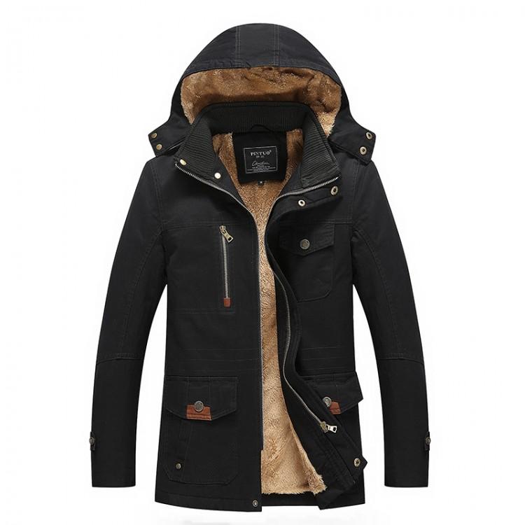 Hoodie trench coat