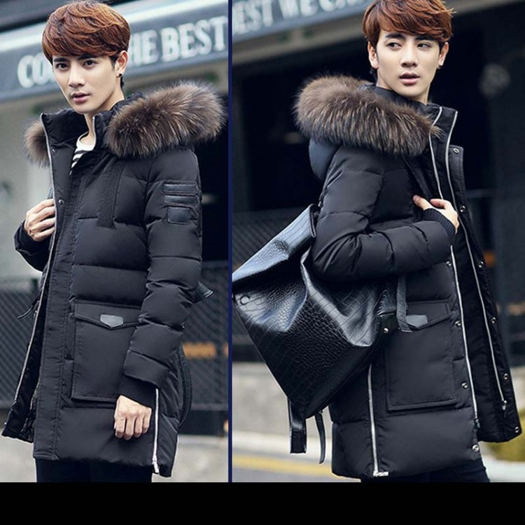Fur hood long parka