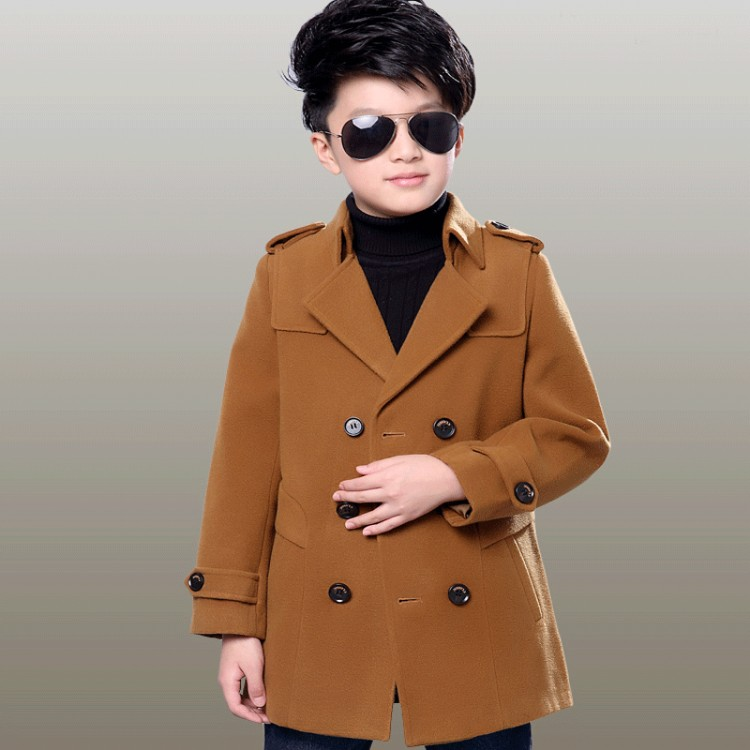 Winter wool-blend peacoat
