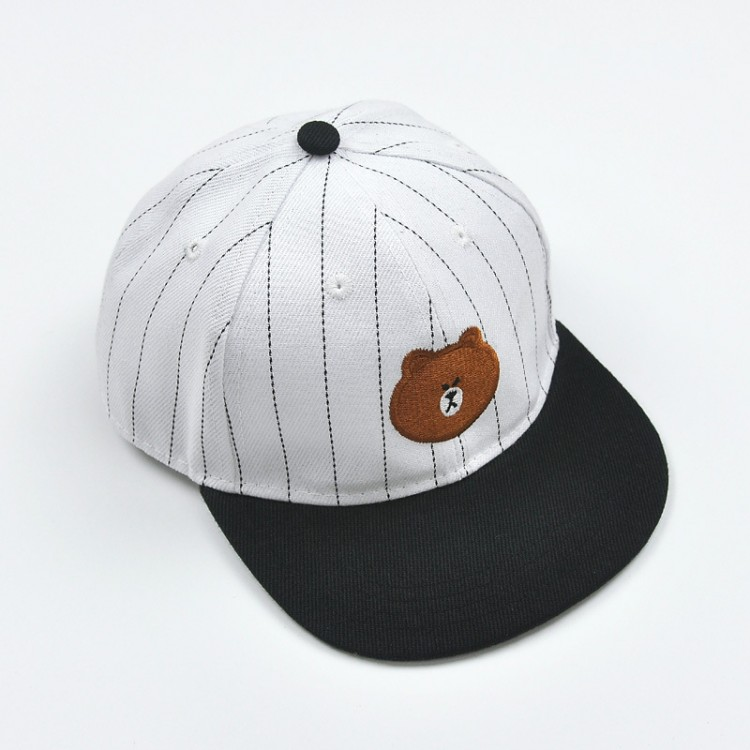 Bear canvas baseball cap