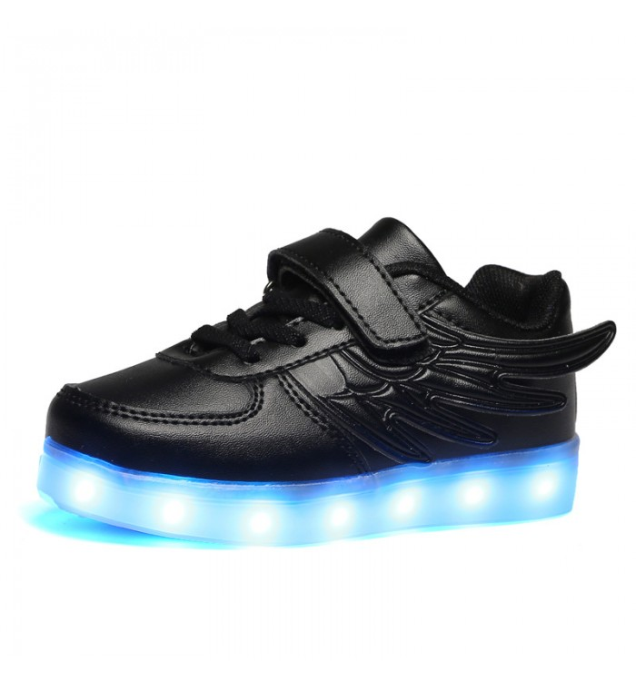 Leather led light up sneaker wings