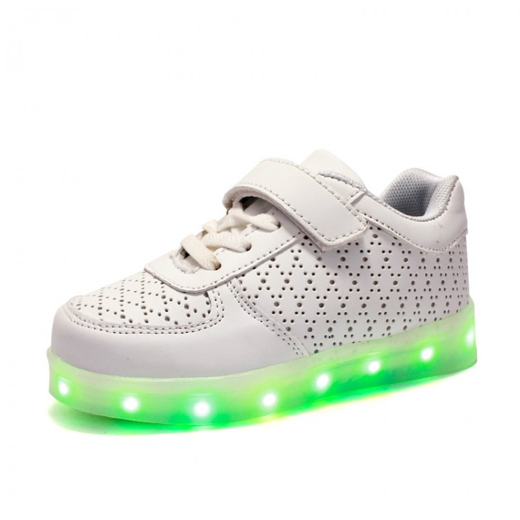 Leather led light up sneaker