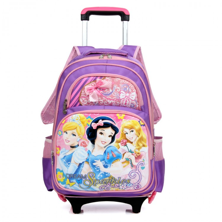 Snow white rolling luggage