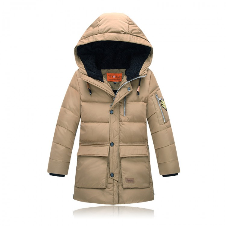 Down hooded parka