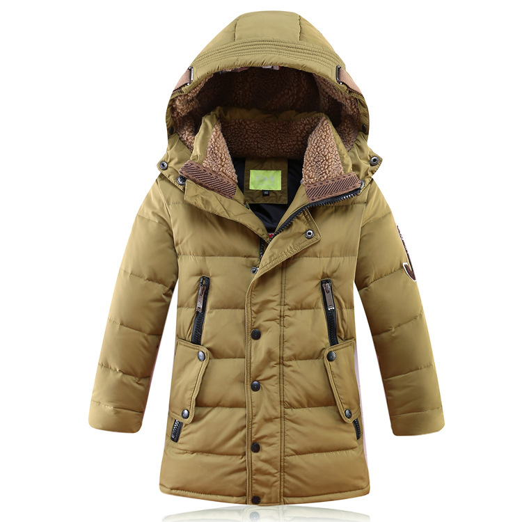 Hooded sherpa-lined parka