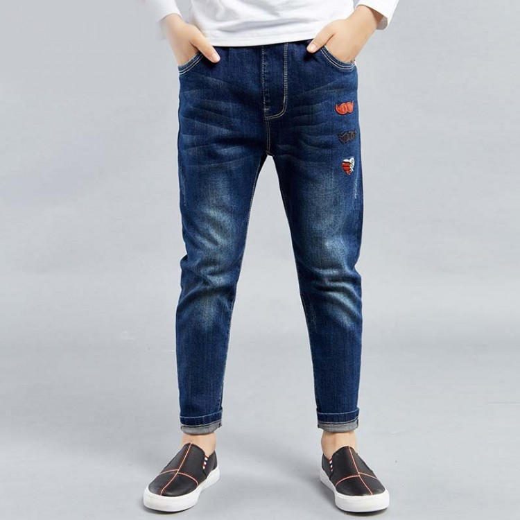 Pull-on ankle jeans