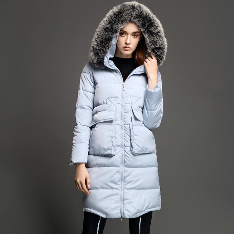 Women Winter Down Coat 70% White Duck Down