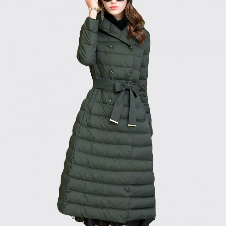 Women Winter Down Coat 90% White Duck Down