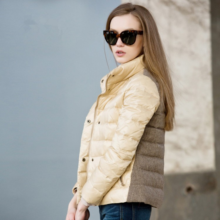 Women Winter Down Jacket 80% White Duck Down
