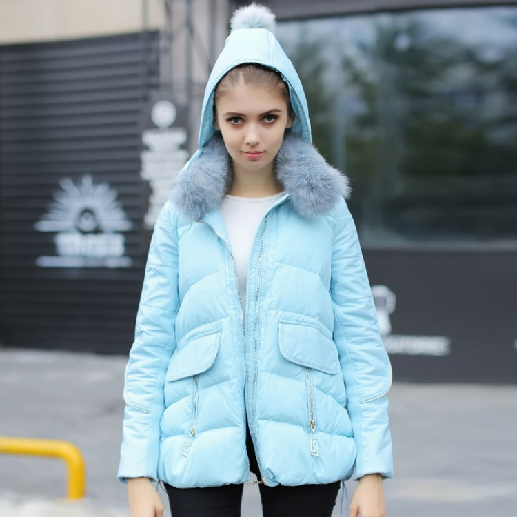 Women Winter Down Jacket 90% White Duck Down