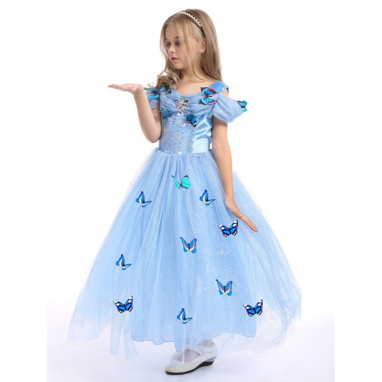 Dress cinderella short sleeve