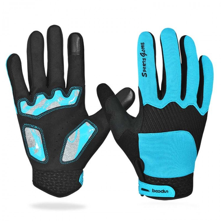Outdoor Sports Men and Women Riding Gloves Touchscreen Gloves Plus Velvet Warm Anti - skid