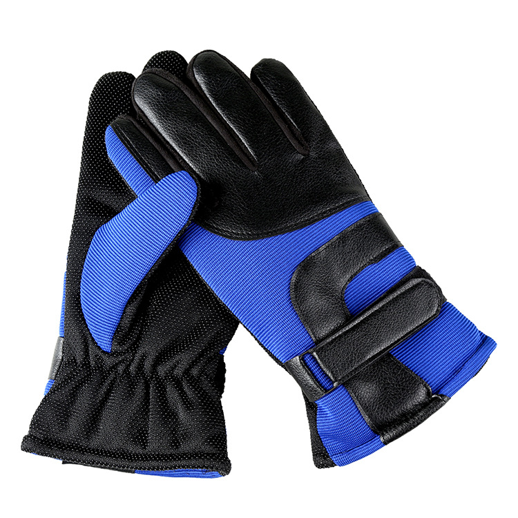 Men's Thick Warm Winter Riding Gloves Male Sports Outdoor Warm Cotton Gloves Non-slip Gloves